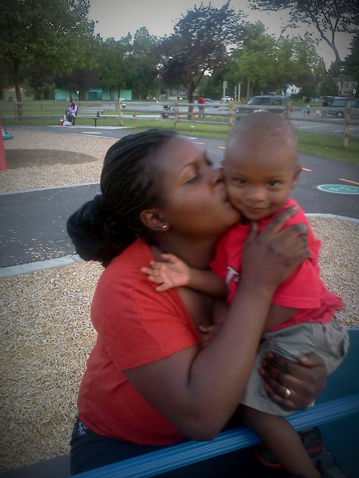 Mom and son playing at the park - VO pic
