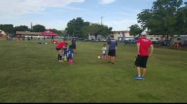 Daughter in soccer field - VO Pic