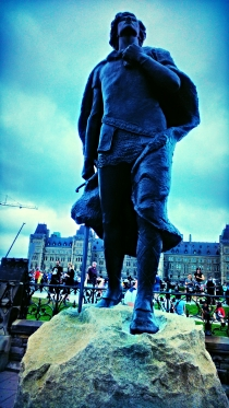 At Parliament Hill - New Statue