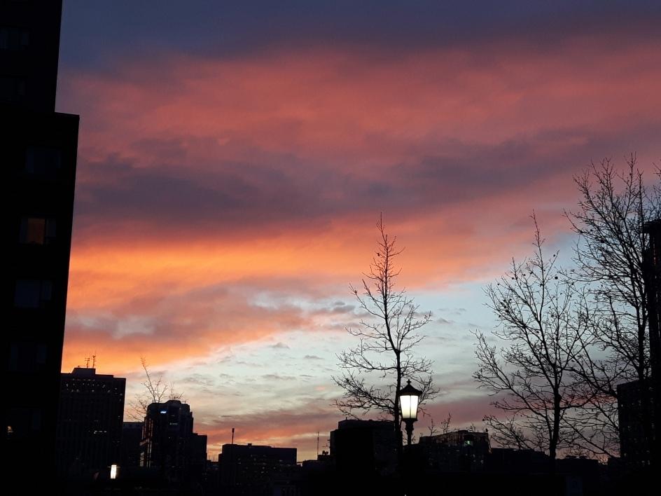 November Sunset: Beautiful and Ephemeral